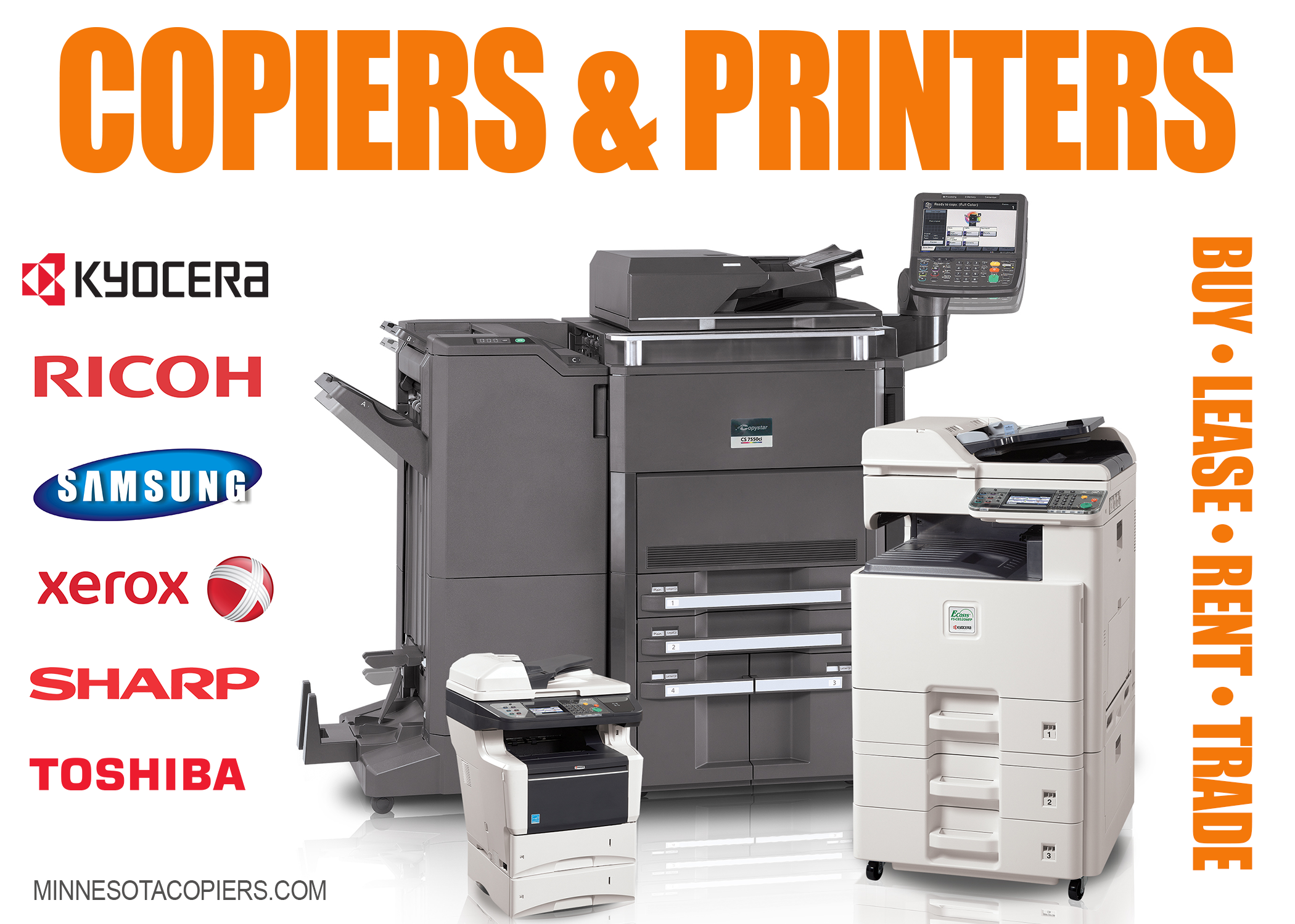Copiers printers sales lease service