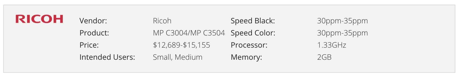 RICOH MP C4504